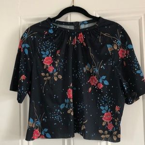 Vintage cropped blouse